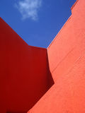 Bright colorful walls in Willemstad, Curacao royalty free stock photo