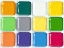 Bright colorful watercolor palette Royalty Free Stock Photos