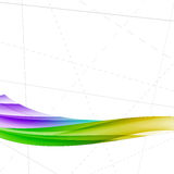 Bright colorful wave folder lines template Stock Photography
