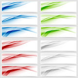 Bright colorful wave header collection Stock Photo