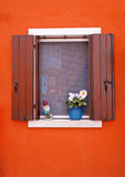 Bright colorful window stock photography