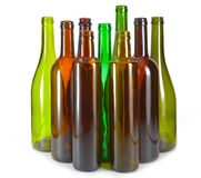 Bright colorful wine bottles.Still-life on a white background Royalty Free Stock Photo
