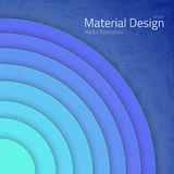 Bright Colorfull Material Design Abstract Circles Lines. Illustration of Bright Colorfull Material Design Abstract Circles Lines with Shadow Vector Mockup Stock Photography