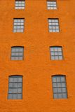 Bright colors. Abandoned building with bright colors used in old factory royalty free stock photo