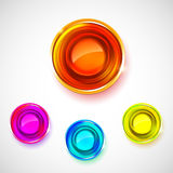 Bright colors abstract medals set Royalty Free Stock Photos