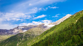 Bright colors of Alps. Mountains with sky in bright vivid colors Royalty Free Stock Images