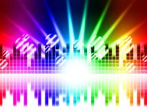 Bright Colors Background Means Rays Frequencies And Balls Royalty Free Stock Image