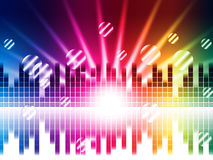 Bright Colors Background Shows Sound Light Waves And Circles Royalty Free Stock Images