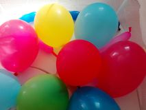 The bright colors of the balloons for children`s parties