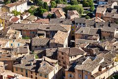 The bright colors of Cotignac, Provence stock photo