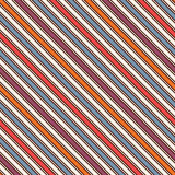Bright colors diagonal stripes abstract background. Thin slanting line wallpaper. Seamless pattern with classic motif. Royalty Free Stock Photography
