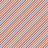 Bright colors diagonal stripes abstract background. Thin slanting line wallpaper. Seamless pattern with classic motif. Stock Photo