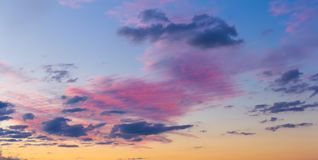 Bright colors of the evening sky. Nature is always pleased with something that is not repeatable Royalty Free Stock Image