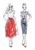 bright colors fashion models white απεικόνιση αποθεμάτων