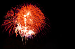 bright colors fireworks -  beautiful colorful firework isolated Stock Image