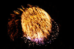 bright colors fireworks -  beautiful colorful firework isolated Stock Photography