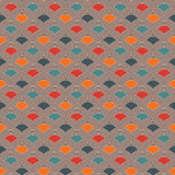 Bright fish scale wallpaper. Asian traditional ornament with repeated scallops. Seamless pattern with vivid semicircles. Bright colors fish scale wallpaper Royalty Free Stock Photos