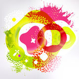 Bright colors fun modern design background Royalty Free Stock Photos
