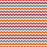 Bright colors horizontal wavy stripes seamless pattern. Vivid repeated lines wallpaper with classic motif. Royalty Free Stock Images