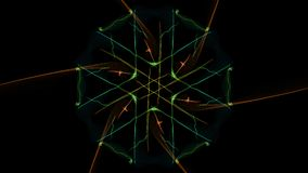 The bright colors of the lines on black background. Silk symmetry series vector illustration