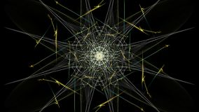The bright colors of the lines on black background. Silk symmetry series royalty free illustration
