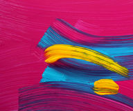 Bright colors paint strokes art Stock Images
