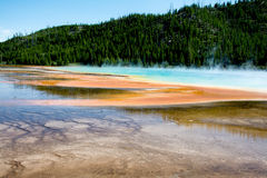 Bright Colors. The Prismatic Springs at Yellowstone National Park. The pool was very beautiful and I took pictures from many angles Royalty Free Stock Images