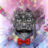 Bright colors robot face Royalty Free Stock Image