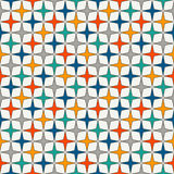 Bright colors seamless pattern with stylized repeating stars. Simple geometric ornament. Vivid digital paper Royalty Free Stock Images