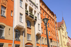 Bright Colors of Street Buildings in Europe Stock Photography