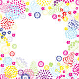 Bright colors flowers frame. Stock Images