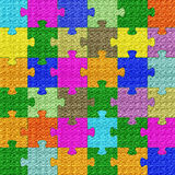 Bright Colors Texture Puzzle Royalty Free Stock Image