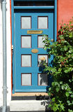 Bright Colors Traditional Painted Wooden Door Stock Photo