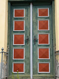 Bright colors traditional painted wooden door Royalty Free Stock Photos