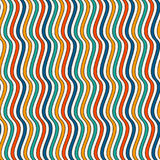 Bright colors vertical wavy stripes seamless pattern. Vivid repeated lines wallpaper with classic motif. Bright colors vertical wavy stripes seamless pattern Stock Image