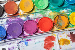 Bright colors for watercolor painting Stock Photo