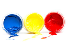Bright colors on a white background. Stock Photo