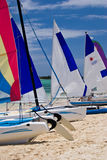 Bright colour. Vesslers on the bavaro beach, domonican republic Stock Photography