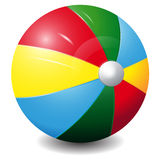 Bright colour ball Icon Isolated on a white backgr. Ound Stock Image