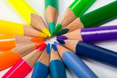 Bright Colour Pencils Royalty Free Stock Photos