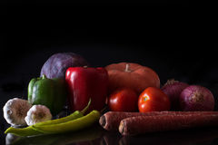 Bright colour veggies Stock Photography