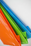 Bright coloured gift paper bags. Assortment of bright coloured coloured gift paper bags Royalty Free Stock Photography