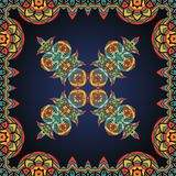 Bright coloured ornate frame with  paisley pattern Royalty Free Stock Image