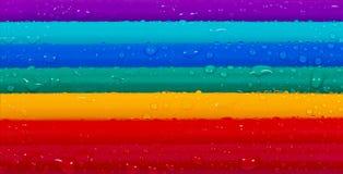 Bright coloured pencils Stock Photos