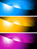 Bright colourful banners Stock Photos