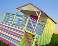 Bright colourful beach hut Stock Photography