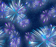 Bright colourful Fireworks. Big bright explosive fire works in the night sky Royalty Free Stock Photo