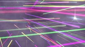 Bright colourful laser beams shining. Digital animation of bright colourful laser beams shining stock illustration