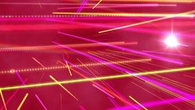 Bright colourful laser beams shining. Digital animation of bright colourful laser beams shining vector illustration