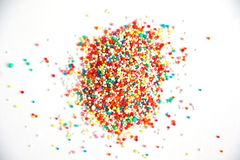 Hundreds and thousands baking sprinkles stock image
